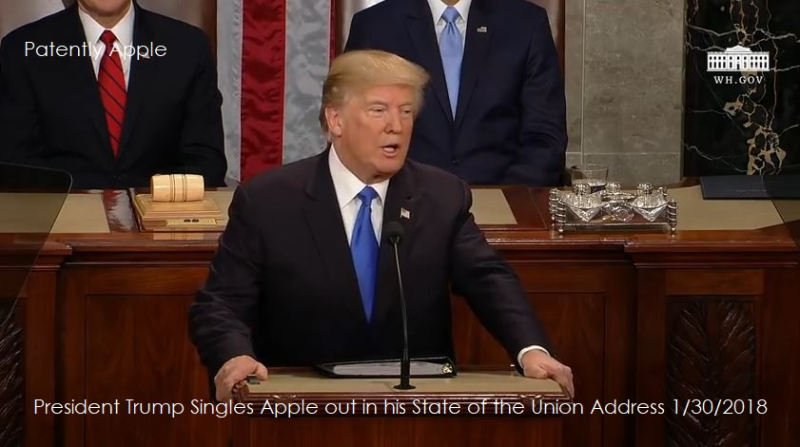 1 Cover  US President Trump  state of the union address 2018 mentions Apple ... - Copy