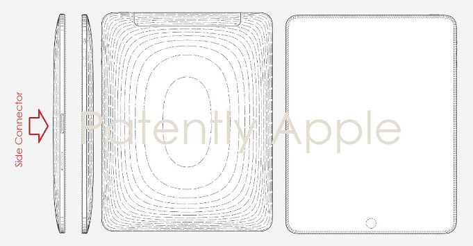 photo image Apple Wins Patents for Displays with Sophisticated Notches and an Original iPad Design that had an Extra Side Connector