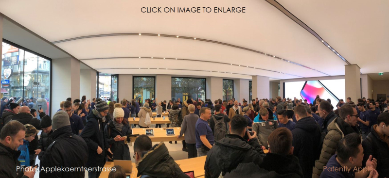 1 cover Apple Store opening day Saturday Feb 24 Austria