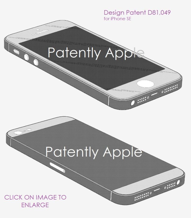 3 design patent for iphone 5 SE