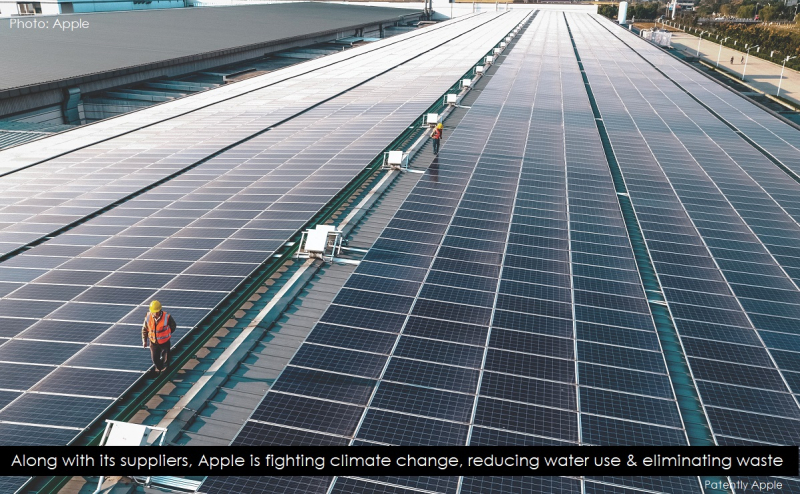 3. Apple workers on solar panel