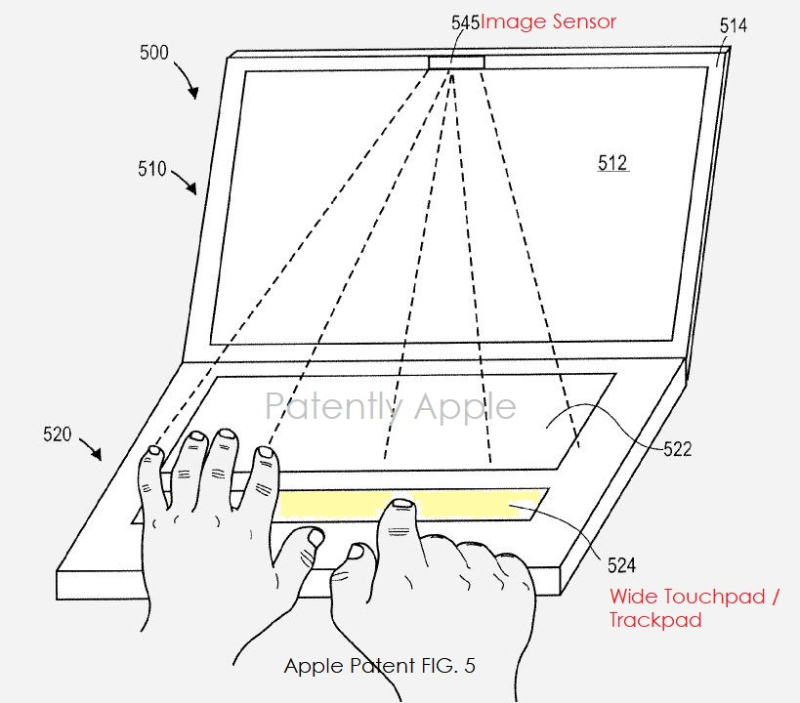 3 X apple wide trackpad patent