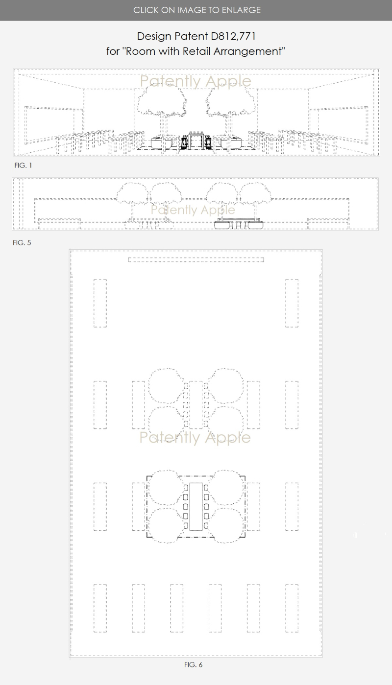 2 design patent D812 771 Apple Store - Room with Retail Arrangement March 13  2018  Patently Apple