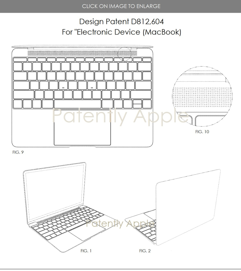 4 Design patent 812  604 Apple MacBook  Patently Apple 2018