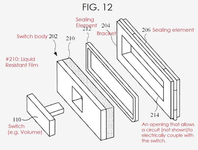 3 apple patent liquid resistant