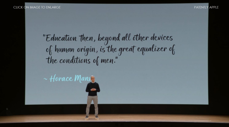 9A - HORACE MANN QUOTE - APPLE EVENT MAR 27 2018