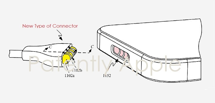 1 X cover new Apple connector invented and granted