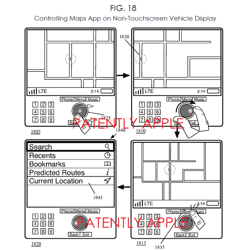4AF - MAPS APP IN NON-TOUCHSCREEN VEHICLE DISPLAY