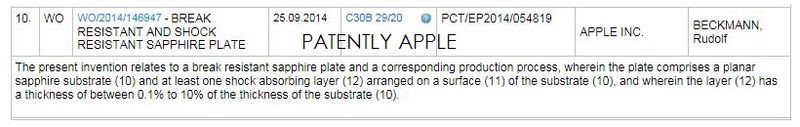 2AF WIPO PATENT, APPLE, SAPPHIRE SEPT 25, 2014