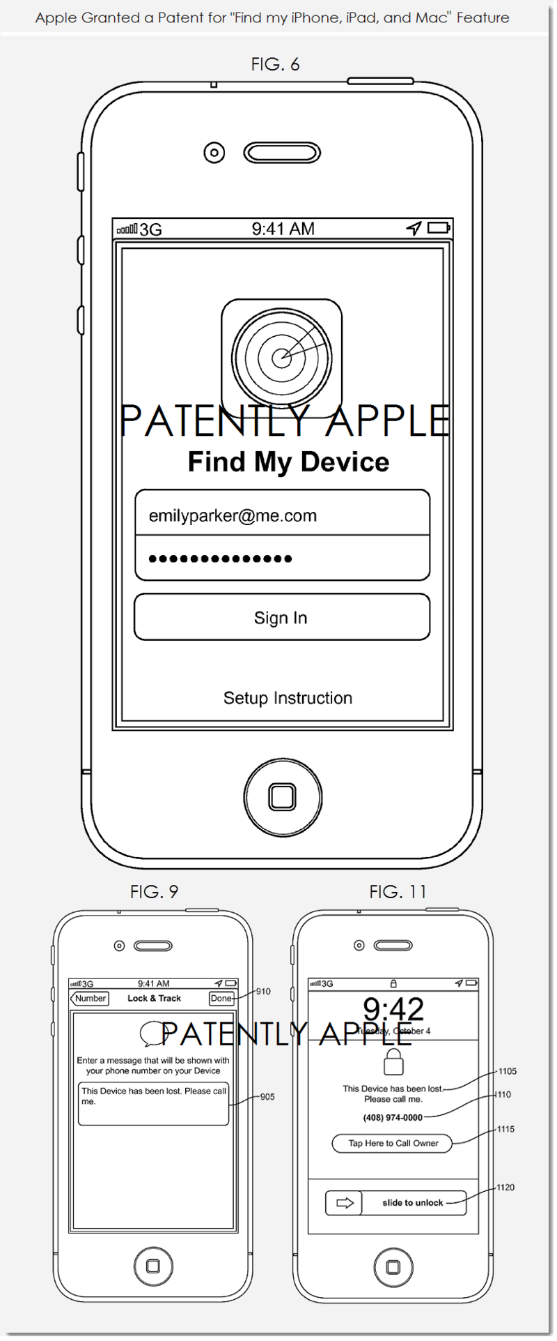 2AF2 - APPLE FIND MY IPHONE, IPAD AND MAC FEATURE GRANTED A PATENT