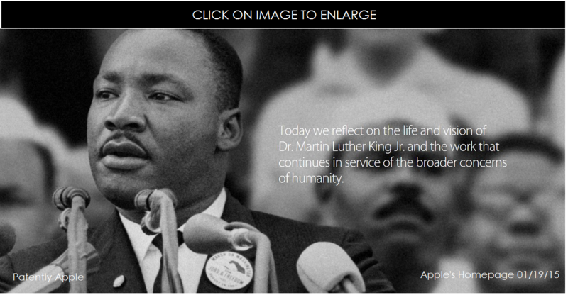 1. Cover - Martin Luther Day jan 19, 2015 - apple's homepage
