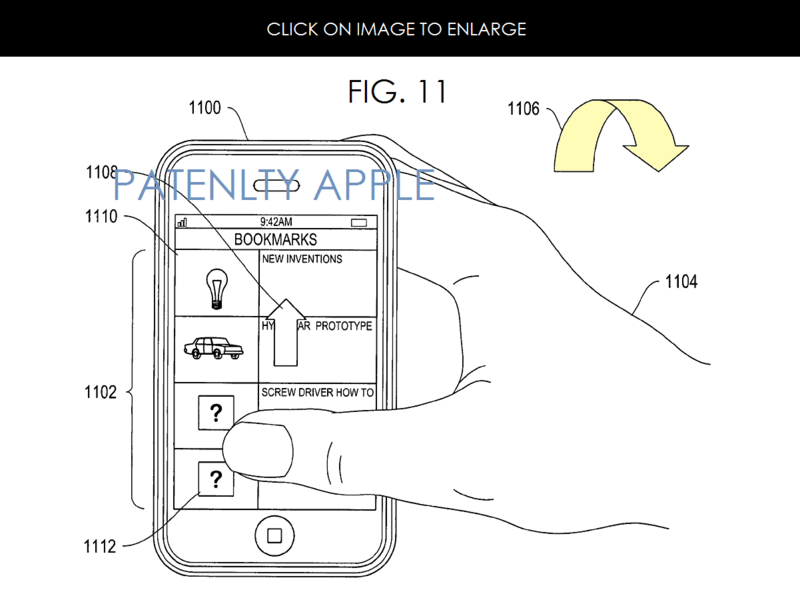 3AF 2 MOVEMENT BASED INTERFACE FOR IDEVICES PATENT