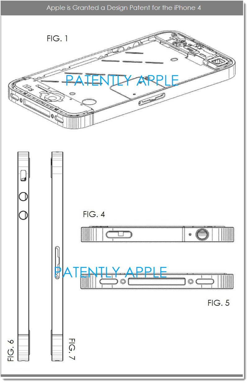 5AF 2 DESIGN PATENT WIN, APPLE, IPHONE 4 COMPONENTS