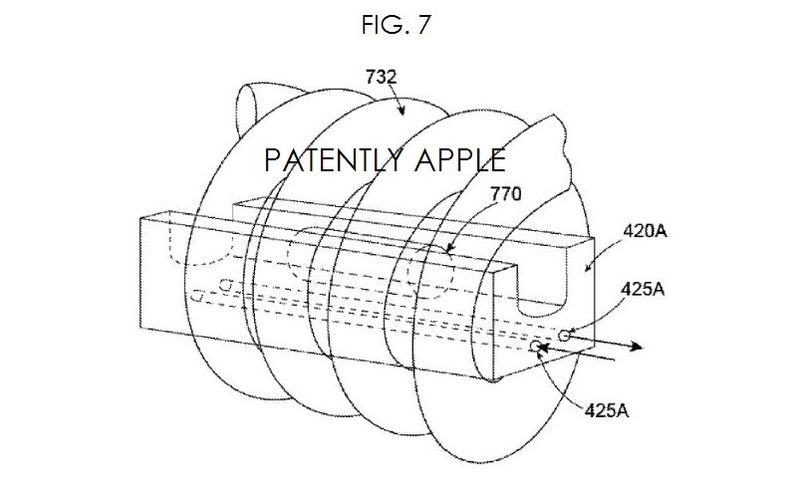4 fig. 7 liquid metal related patent, Apple