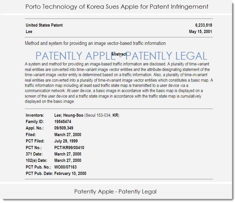 2.1 AF KOREAN PORTO TECHNOLOGY SUES APPLE OVER APPLE MAPS