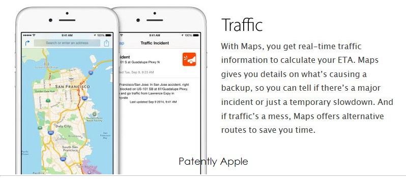 1af 2 apple maps, traffic