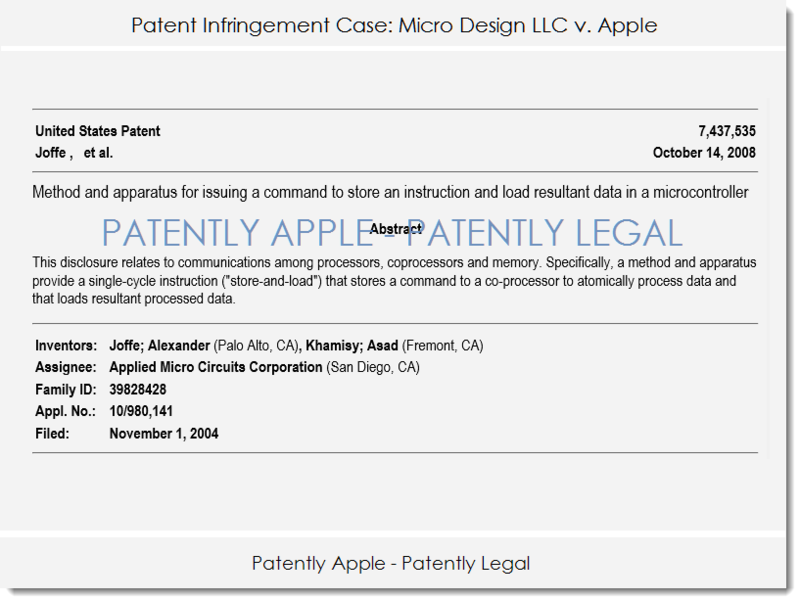 2 MICRO DESIGN V. APPLE PATENT INFRINGEMENT CASE