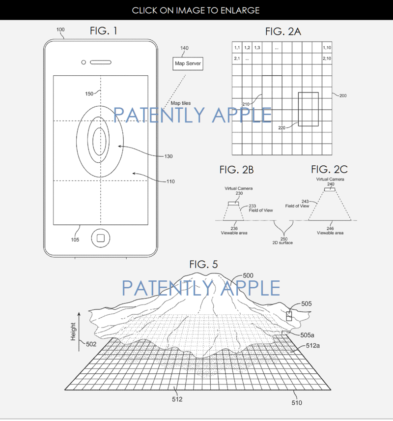 2AF 55 APPLE MAPPING 3D GRANTED PATENT