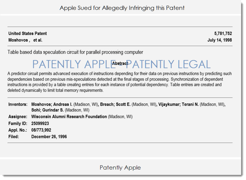 2 WISCONSIN RESEARCH V. APPLE