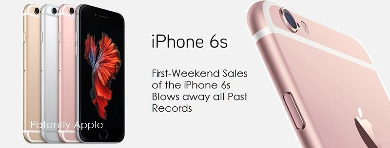 1AF 66 IPHONE 6S SALES RECORD FIRST WEEKEND