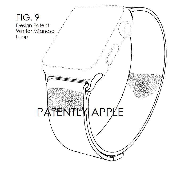 4AF APPLE WATCH BAND MILANESE LOOP GRANTED PATENT