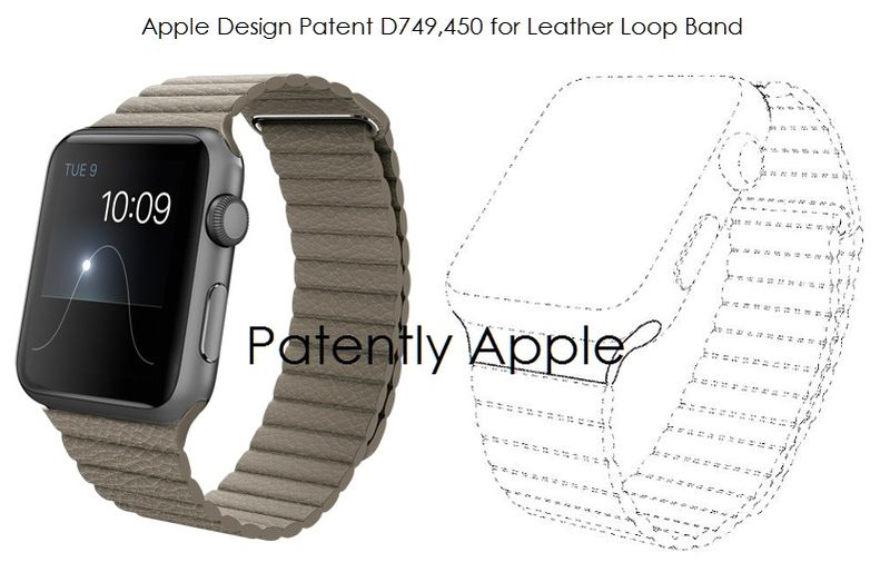 3AF  55 LEATHER LOOP APPLE WATCH  BAND