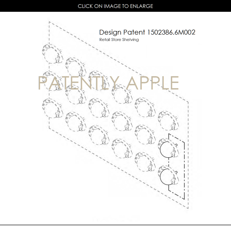 4AF 55 DESIGN PATENT, RETAIL SHELVING INTERNAL PANEL, HEADPHONES
