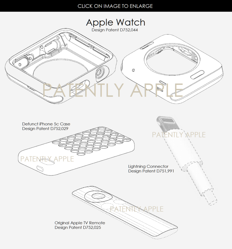 4 AF 55 DESIGN PATENTS applewatch, lighting, case, remote