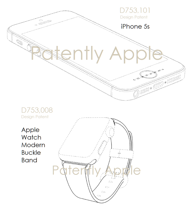 3 AF 55 DESIGN PATENTS, IPHONE 5S + APPLE WATCH BAND