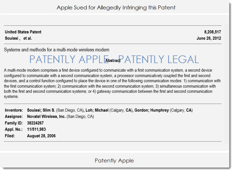 3AF 55 - APPLE SUED WITH THIS PATENT