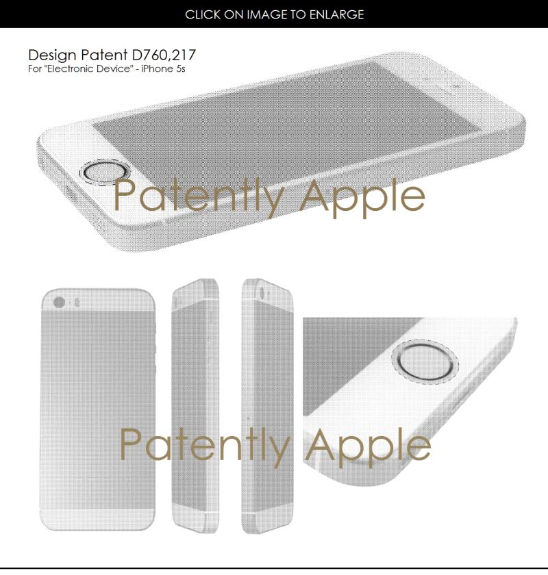 2af 55 iphone 5s design patent