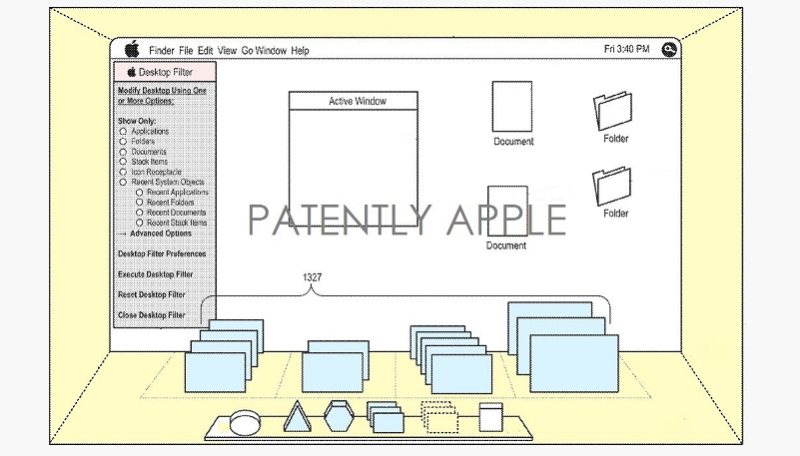 3AF 55 - OTHER APPLE PATENT 3d gui