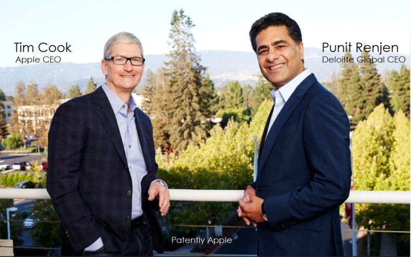 3AF 99 TIM COOK AND DELOITTE GLOBAL CEO PUNIT RENJEN