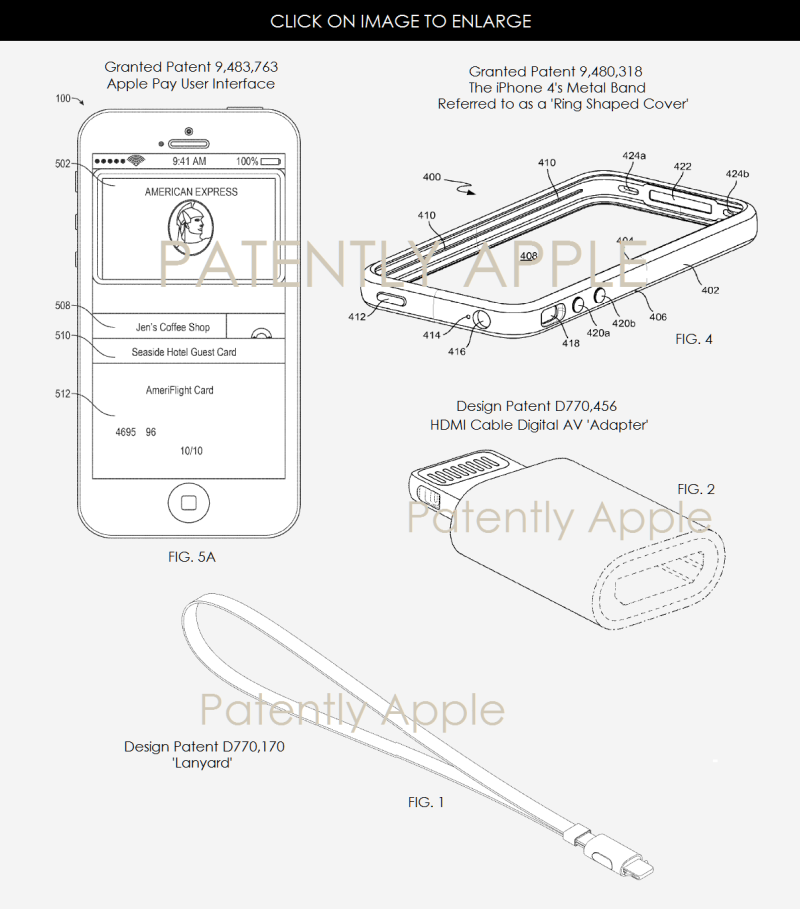 2AF X 99 APPLE GRANTED PATENTS FOR APPLE PAY UI ++