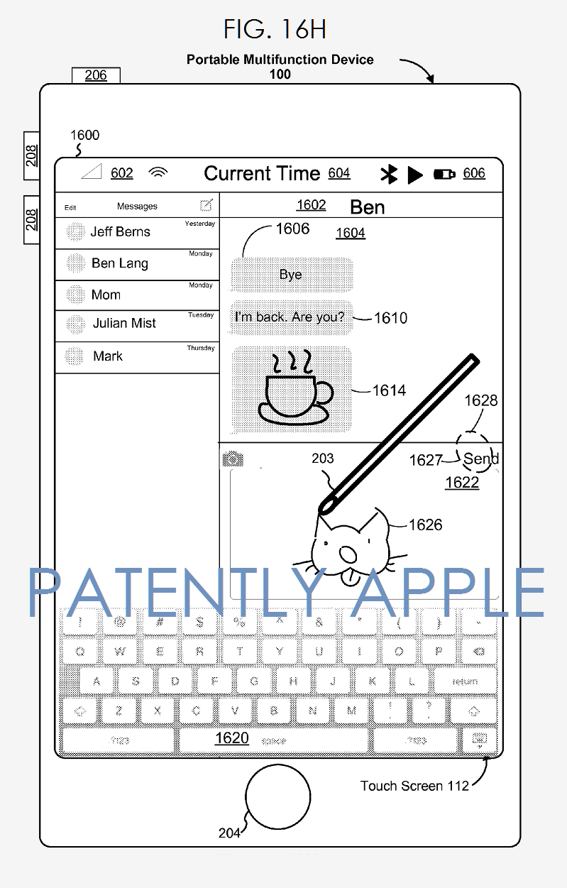 4AF X88 iphone messaging with Apple Pencil