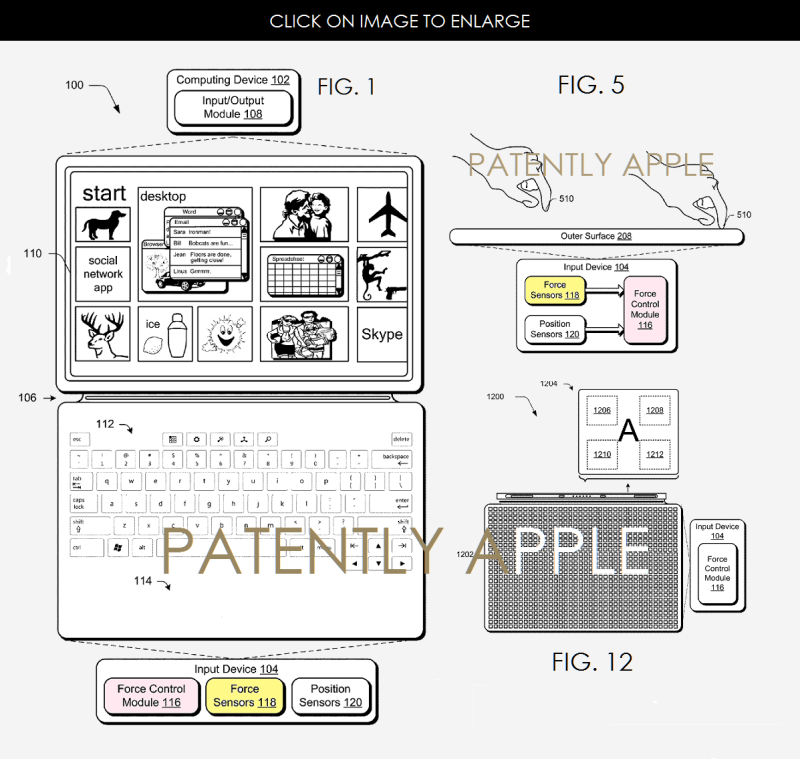 6af 88 microsoft patent force touch