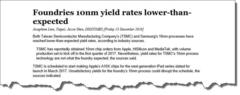 TSMC Refutes DigiTimes Report that their 10nm is