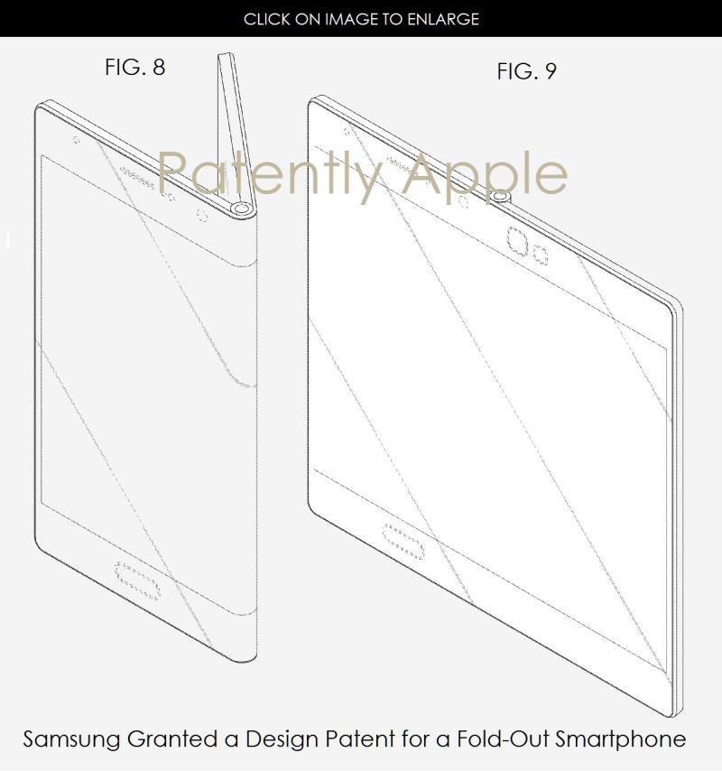 2 ax 99 samsung fold-out smartphone design