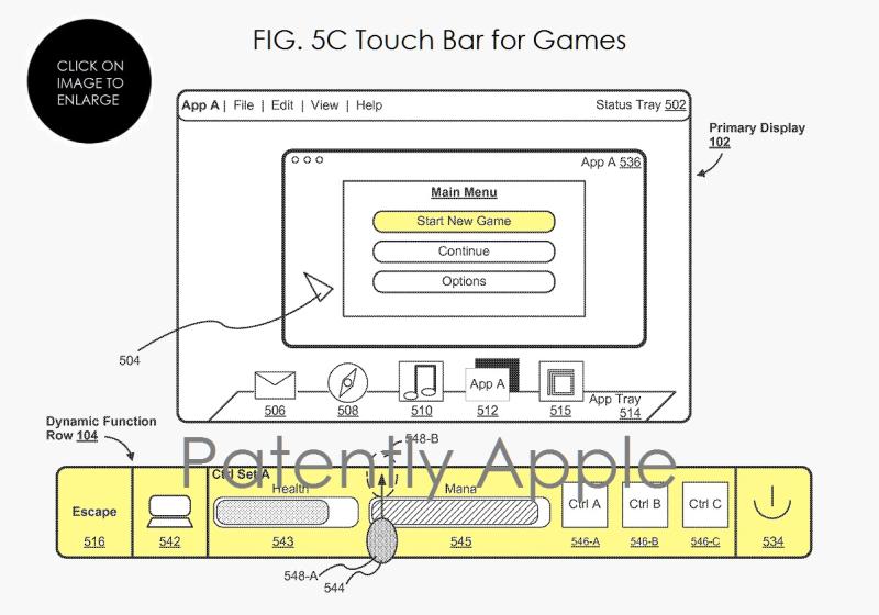 4af touch bar for games