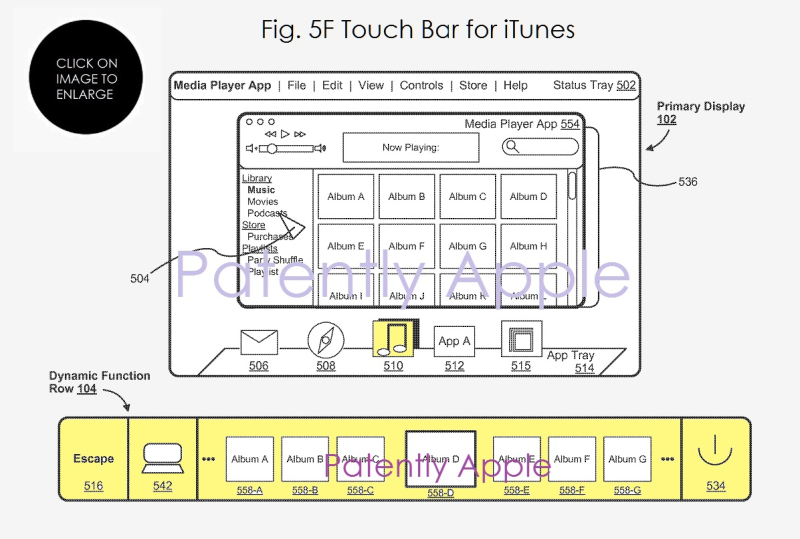 5 AF X99 FIG. 5F ITUNES TOUCH BAR