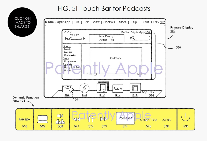 6af x99 touch bar fig. 5i podcasts