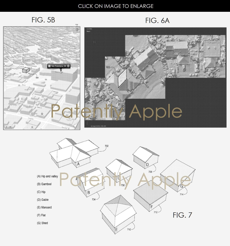 3AF X88 APPLE MAPS PATENT FOR RECOGNIZING ROOFS