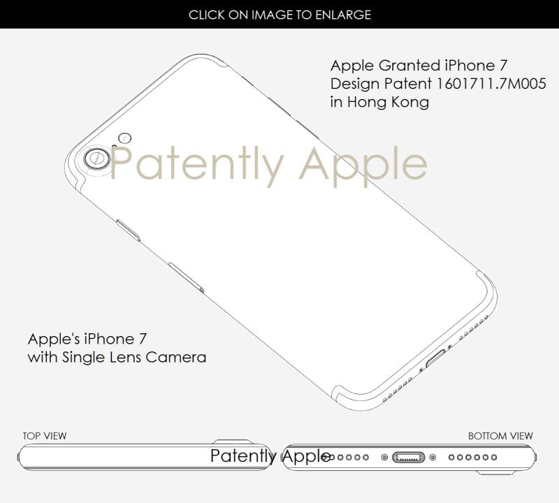 6 AF X99 IPHONE 7 DESIGN PATENT