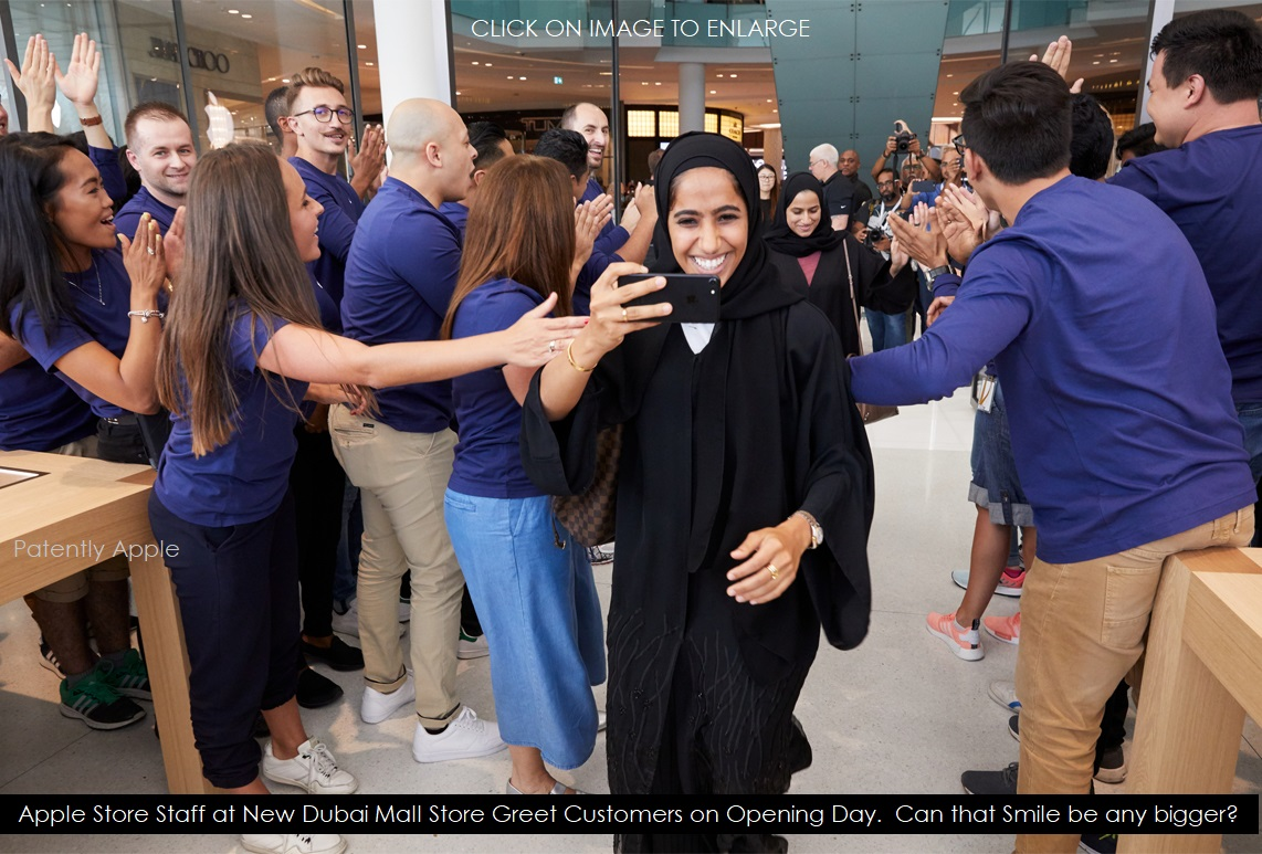 Jumbo Photos and Great Video of Opening Day in the New Dubai Mall Apple Store