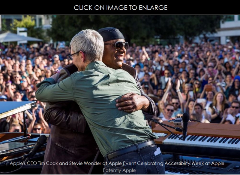 1AF X 99 COVER TIM COOK - APPLE CEO - HUGS STEVIE WONDER AT APPLE EVENT