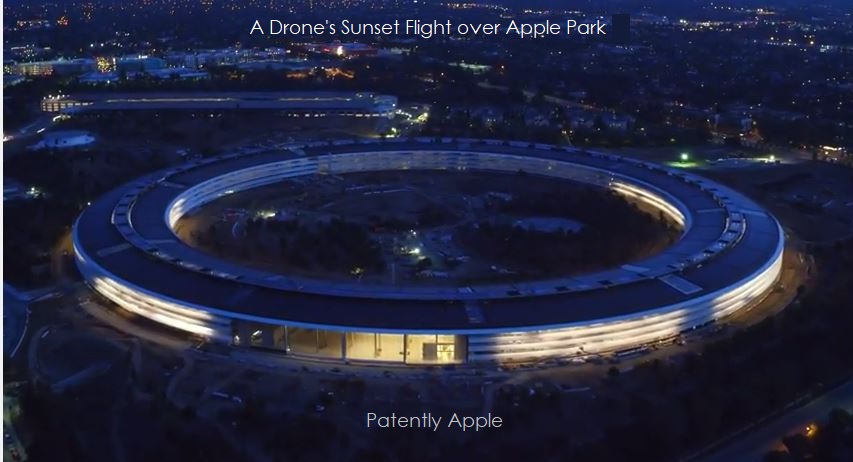 photo image New Video: A Drone's Sunset Flight over Apple Park