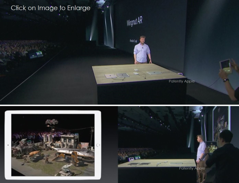5AX 99 XXX AR DEMO LIVE WWDC 2017 - PATENTLY APPLE REPORT