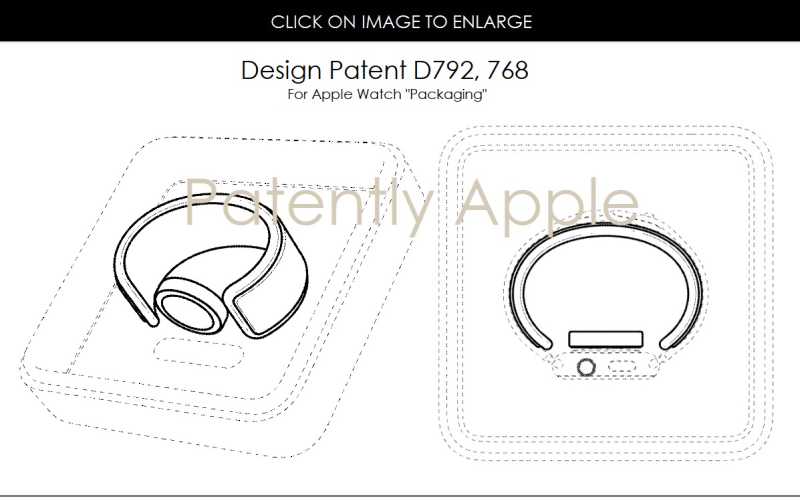 5AF X99 DESIGN PATENT  APPLE WATCH PACKAGING  JULY 2017  PATENTLY APPLE