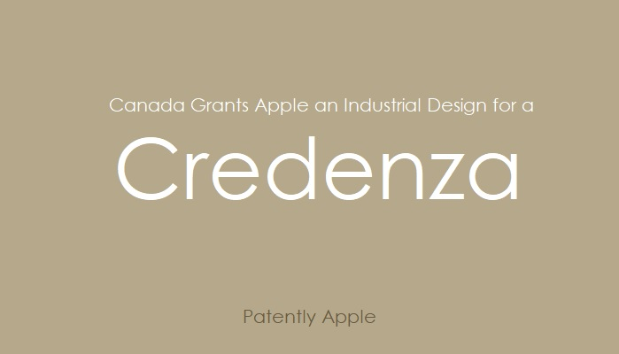 1AF X99 APPLE WINS CREDENZA DESIGN PATENT IN CANADA