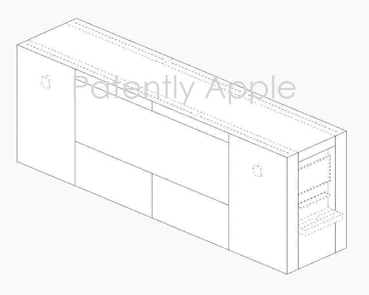 4AF X APPLE STORE DISPLAY DESIGN PATENT